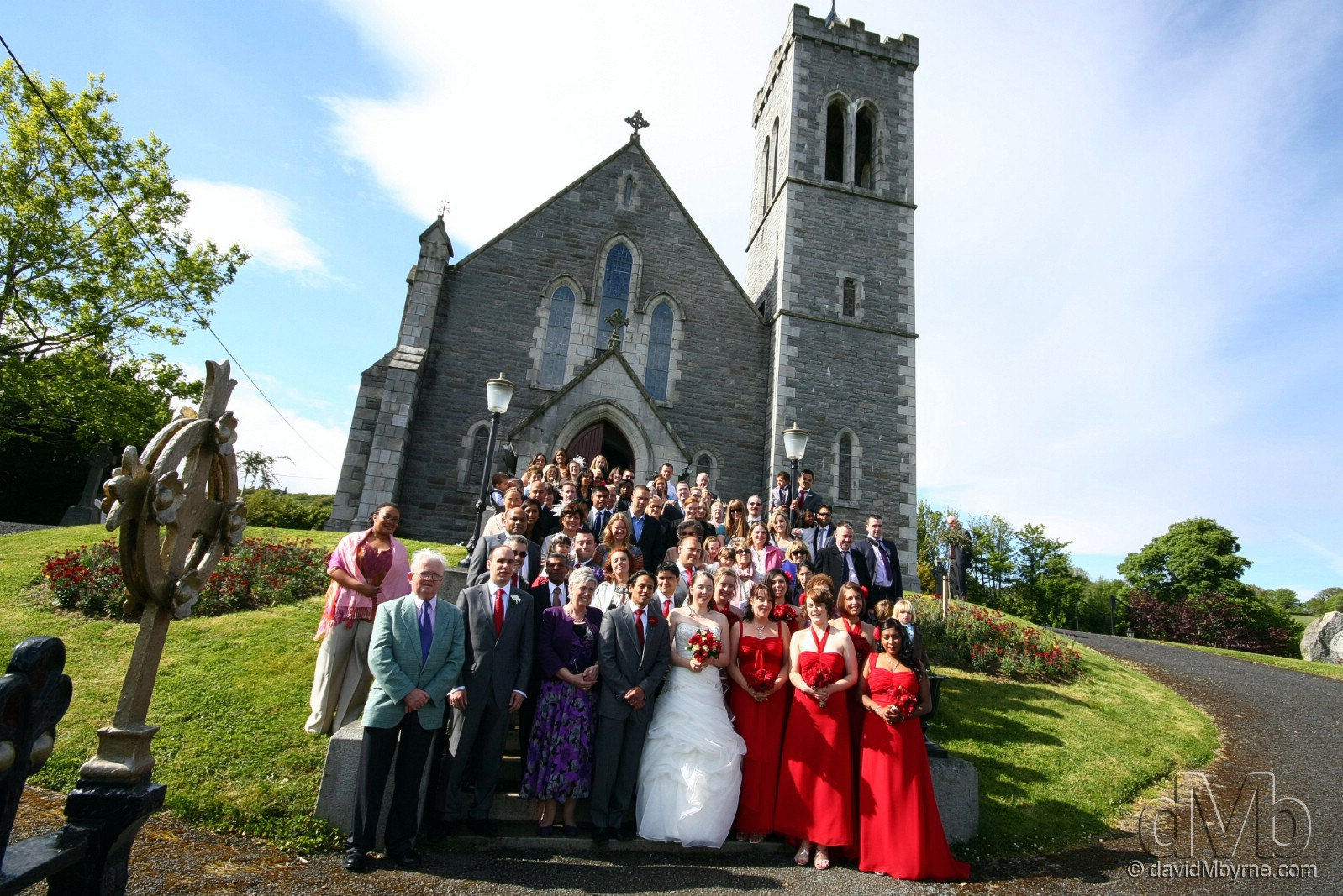 The congregation, minus yours truly, of Clare & Michael's wedding at the Church of the Sacred Heart, Aughrim, Co. Wicklow, Ireland. May 14th, 2011 (10mm, 1/200sec, f10.0, iso200)