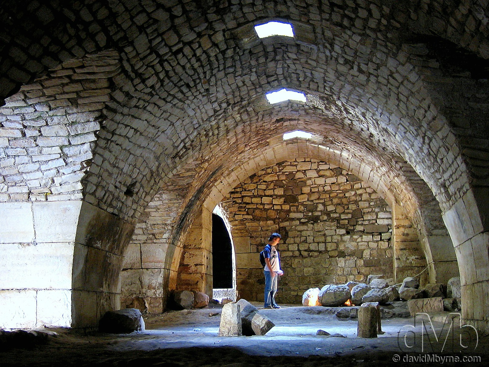 Inside the corridors of the Crac des Chevaliers, Syria. May 7th, 2008.