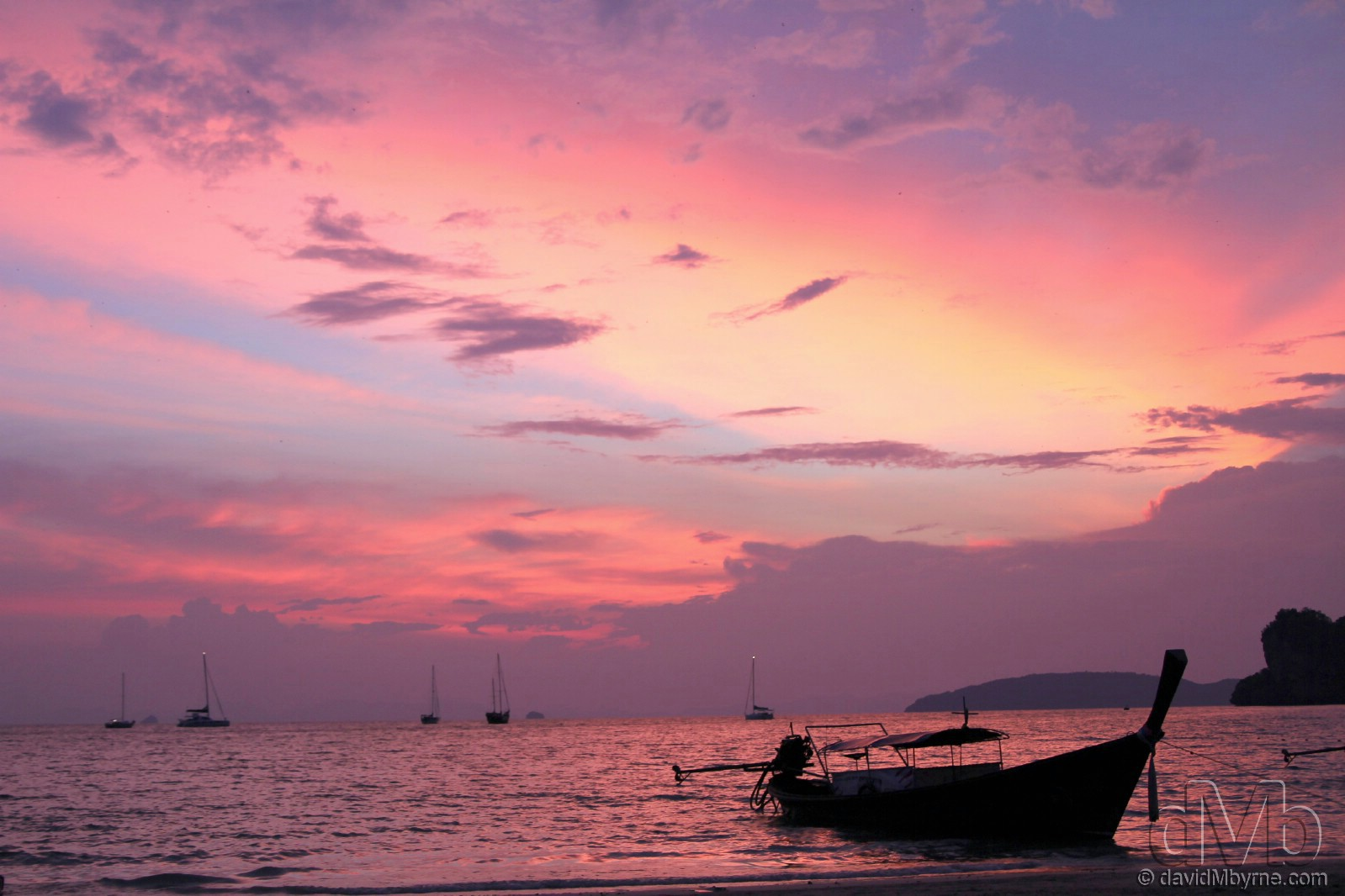 Hat Rai Leh West beach, Railay, Krabi, Thailand. March 19th, 2012.