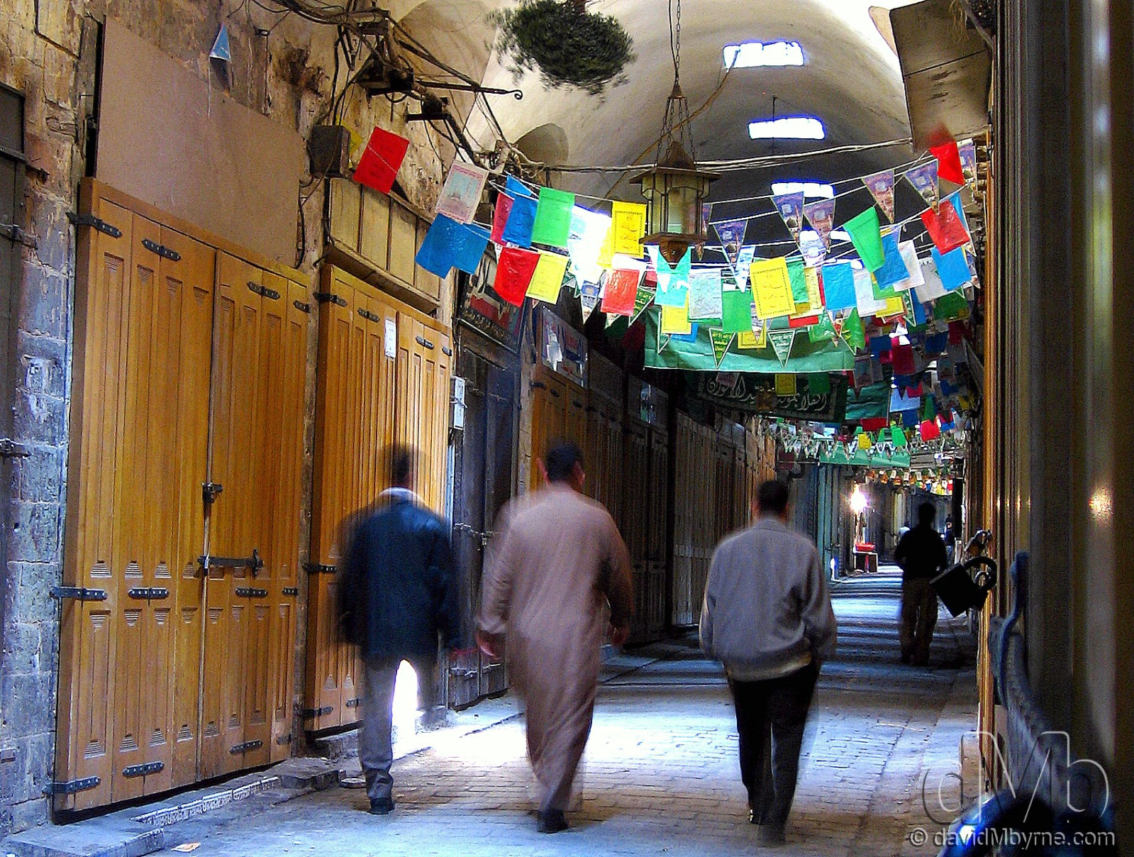 An empty section of the souq in Aleppo, Syria. May 9th, 2008.