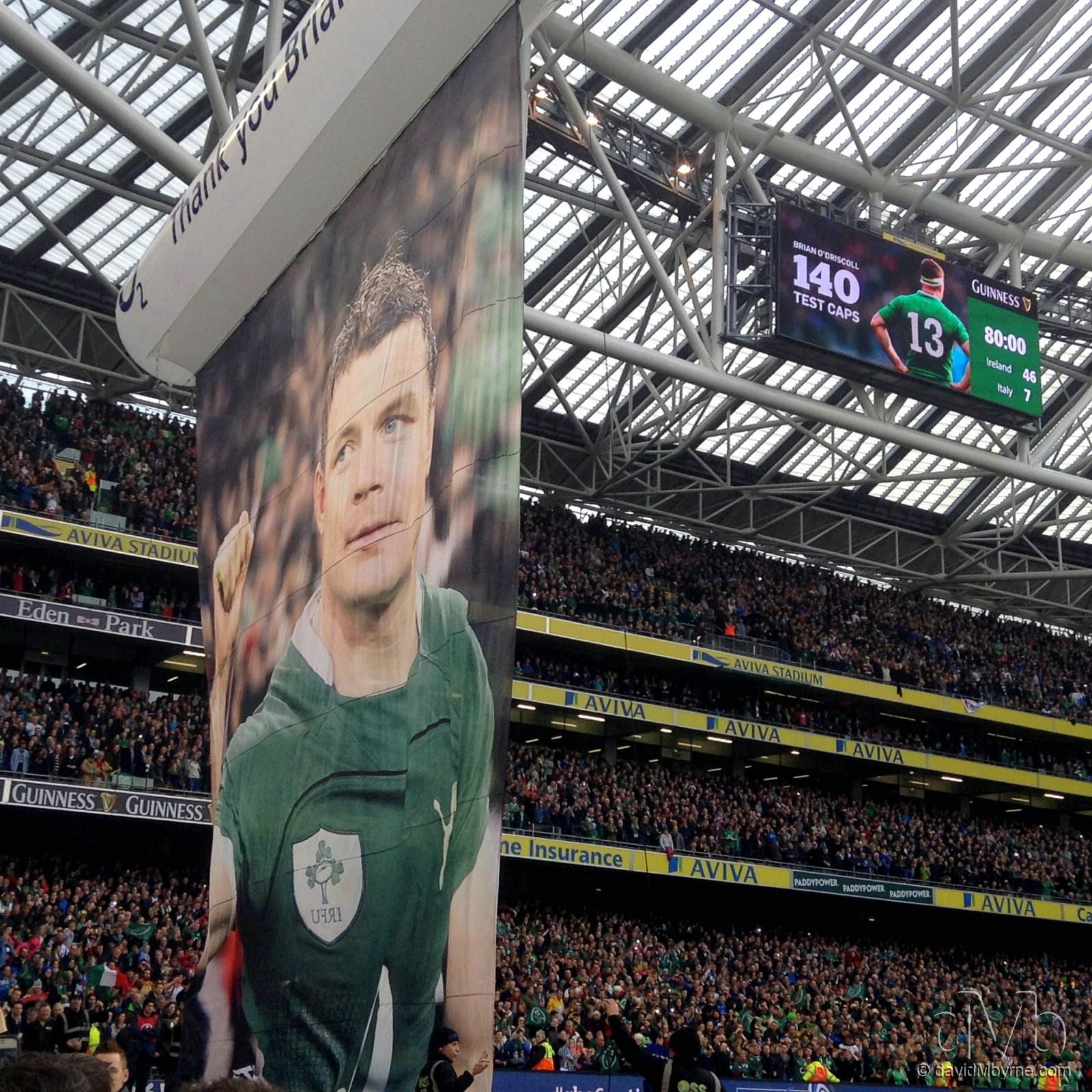 Thank You Brian. Ireland vs. Italy, Aviva Stadium, Dublin, Ireland. March 8th, 2014 (iPod Touch v5)