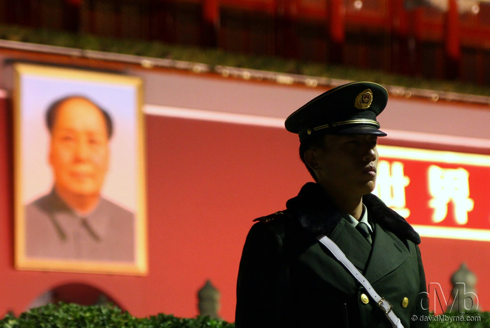Standing guard outside of Tian'anmen Gate, Beijing, China. October 27th, 2012 (EOS 60D || Tamron 28-75mm || 75mm, 1/125sec, f/3.2, iso1250)