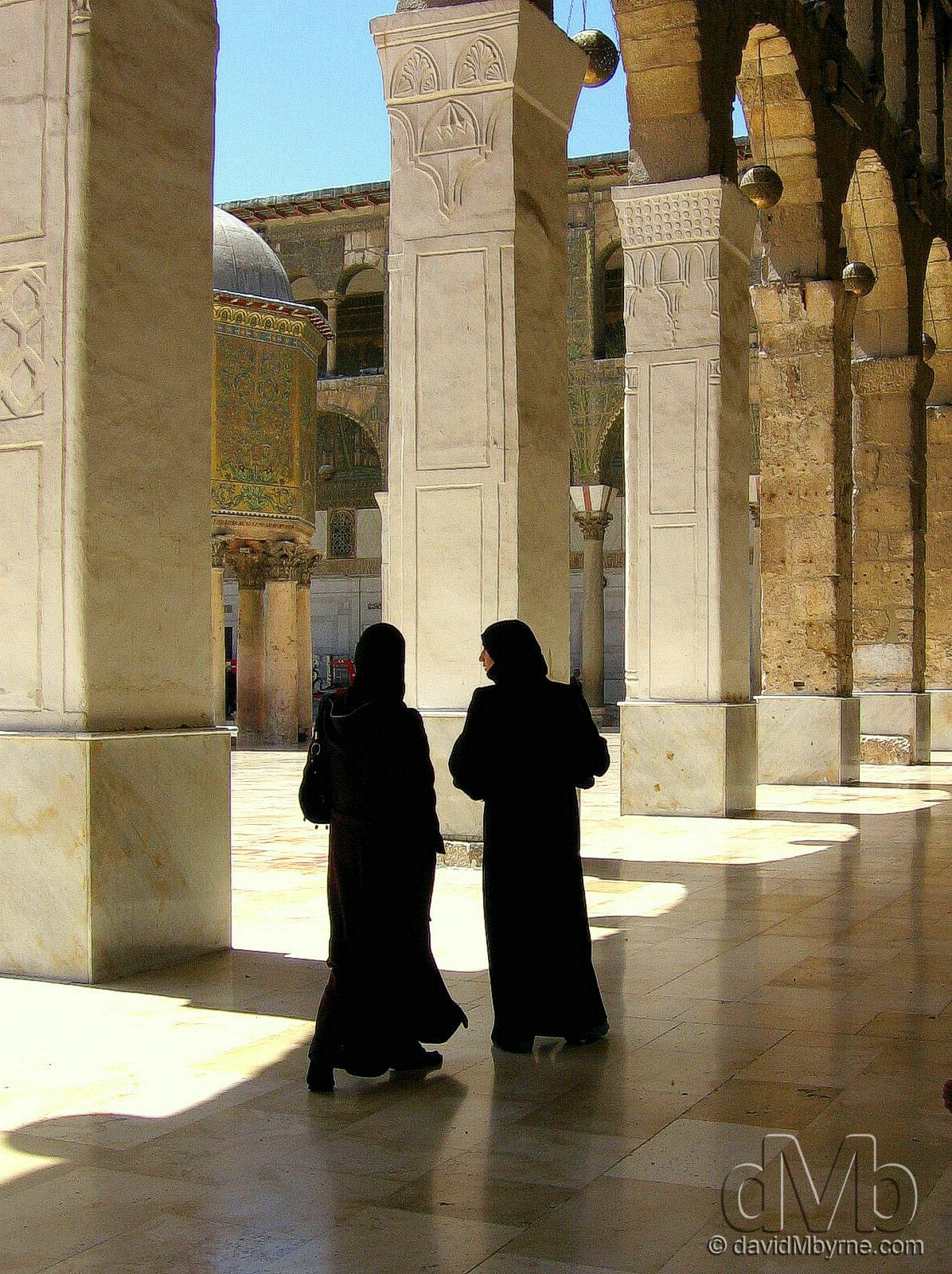 In the courtyard of the Ummayad Mosque in Damascus, Syria. May 5th, 2008.