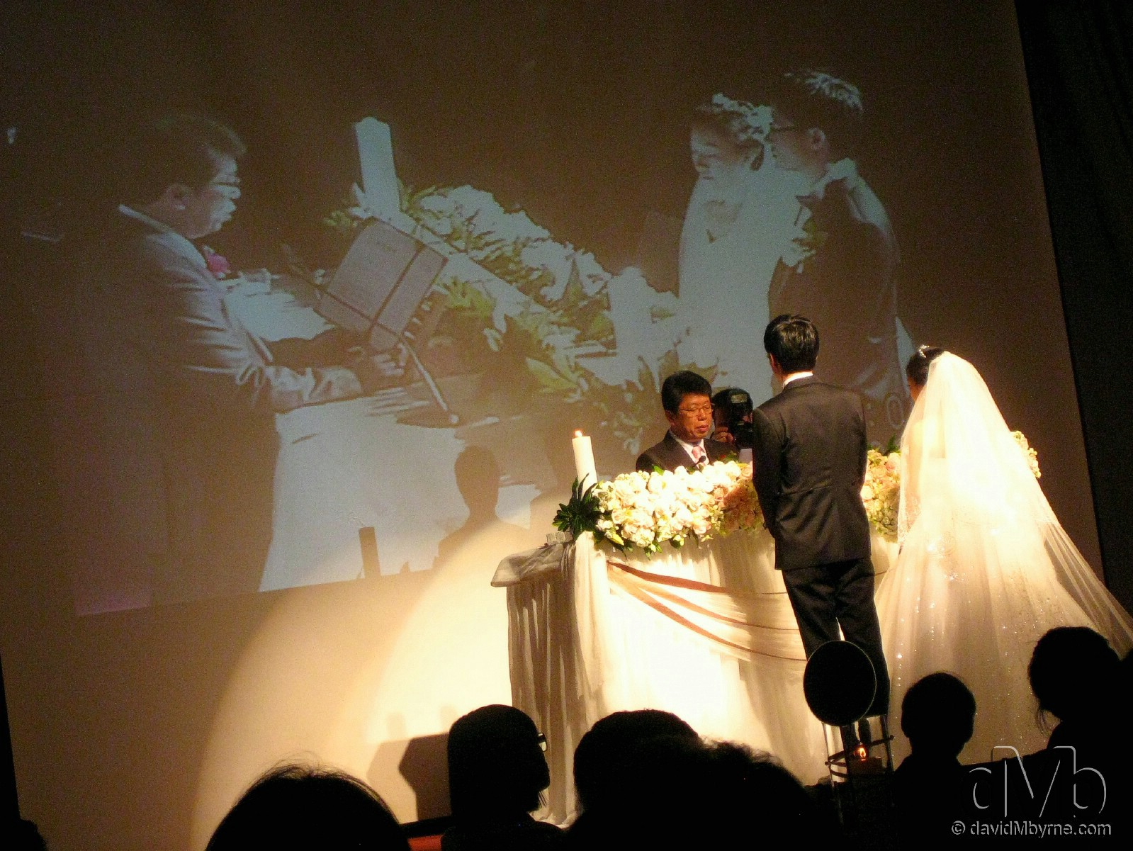 A wedding, Korean style – a big hall, loads of people, flowers, dry-ice & multimedia equipment. And it's all over quicker than one can say 'I do.' aT Building, Yangjae-dong, Seoul, South Korea. April 2nd, 2011 (Canon IXUS DIGITAL 80IS)